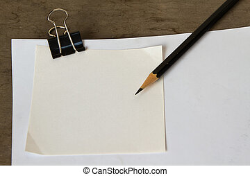 Blank White note paper