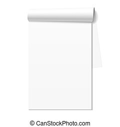 Blank white notepad, notebook - Blank white notepad