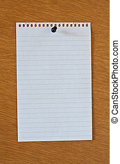blank white page from notebook