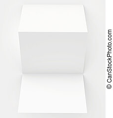 blank white paper folded twice