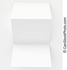 blank white paper folded twice