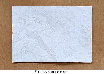 Blank white paper.