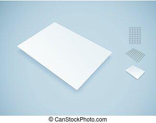 Blank white paper sheet mockup.
