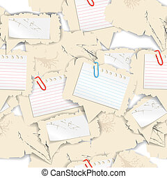 Blank white papers seamless background