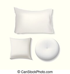Blank White Pillow Set / Cushion Illustration Vector