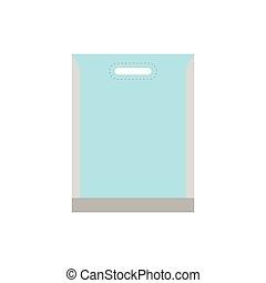 Blank white plastic bag icon