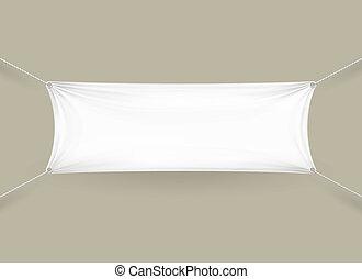 Blank white rectangular horizontal banner