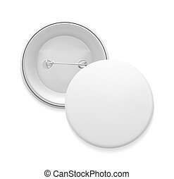 empty pin badge template blank white round pin empty badge