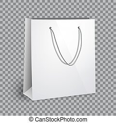 Blank white shopping bag mockup