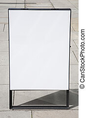 Blank White Sign in City Street