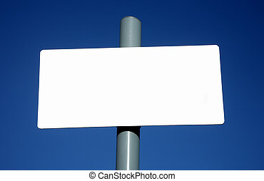 Blank white sign ready for text.