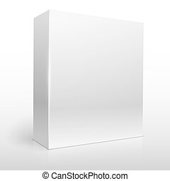 Blank white software box vector template.