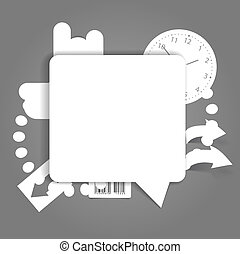 blank white speech cloud - Abstract background of blank...
