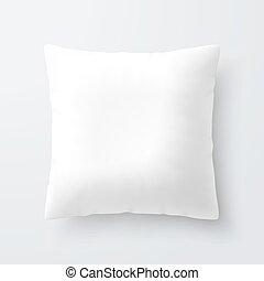 Blank white square pillow / cushion illustration