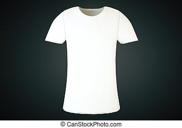 Blank white T-shirt front