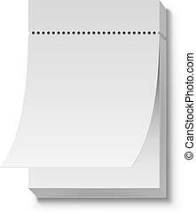 Blank white tear off wall calendar vector template.