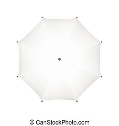 Blank White Umbrella. Top View. Vector.