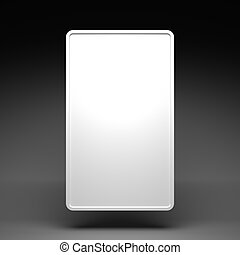 Blank White Vertical Billboard on a Dark Grey Background