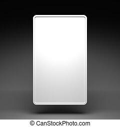Blank White Vertical Billboard on a Dark Grey Background