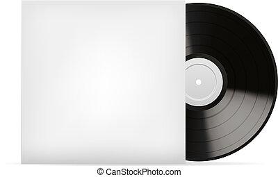 Blank white vinyl cover vector template