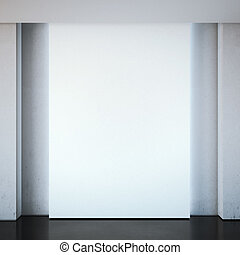 Blank white wall in the modern interior.