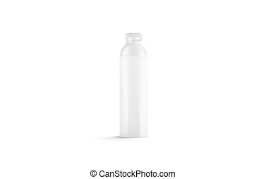 Blank white water bottle mockup, isolated, front view, 3d ...