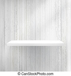 Blank white wooden bookshelf. + EPS10 vector file