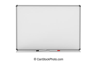 Blank Whiteboard isolated on white background. 3d render
