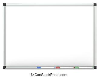 Whiteboard - Blank Whiteboard with 3x marker pen, for copy...