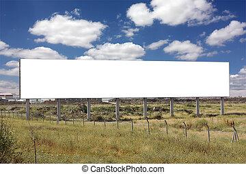 Blank Wide Billboard