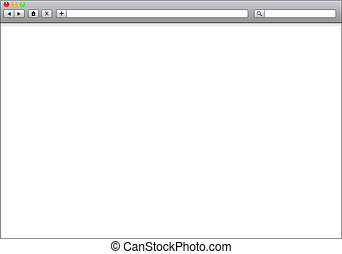 Blank window of internet browser, template illustration