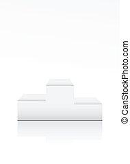 Blank winner podium on white