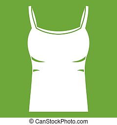 Blank women tank top icon green