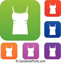 Blank women tank top set color collection