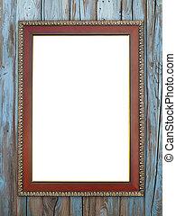 wood frame on wood wall