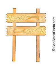 blank wood sign board