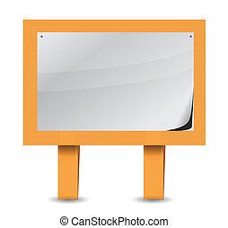 blank wood sign illustration design