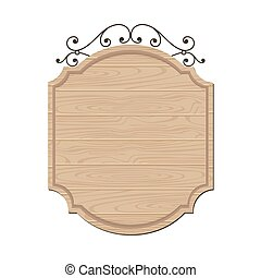 Blank wood sign vector design