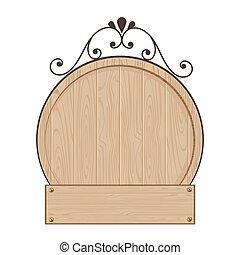 Blank wood sign vector design