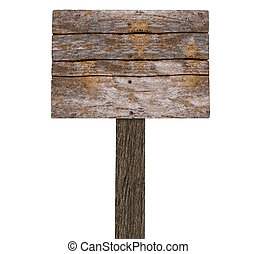 Blank Wooden Sign board ( on White)