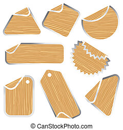 blank wooden stickers