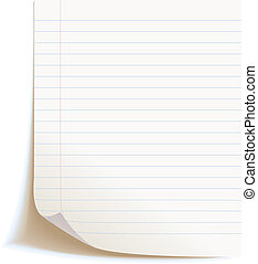 Blank worksheet exercise book
