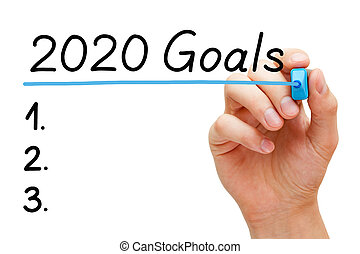 Blank Year 2020 Goals To Do List Concept