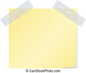 blank yellow color post it vector - blank yellow color post...