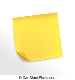 blank yellow note paper