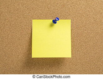 Blank yellow notepaper