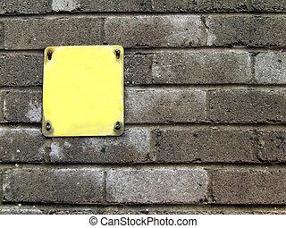 Blank Yellow Notice