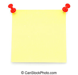 Blank Yellow Post-it