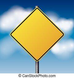 Blank Yellow Road Sign Illustration