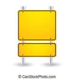blank yellow sign